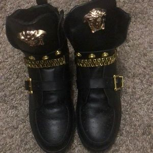 Black and gold Versace sneaker